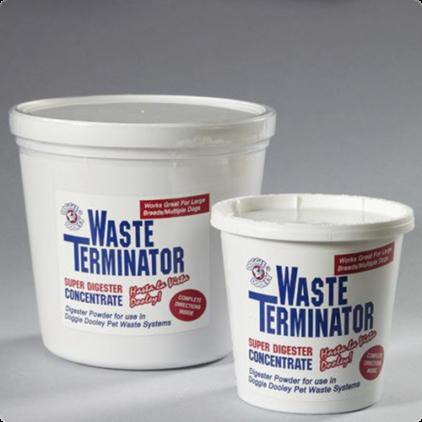 Met het orginele Waste Terminator verteerpoeder behaalt u het beste resultaat met uw Doggie Dooley hondentoilet. Net het verteerpoeder kunt u eenvoudig de dosering aanpassen aan de specifieke situatie van u wen uw hond. makkelijke te doseren met een lepel.